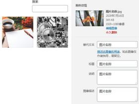 WordPress上传图片自动添加Alt和图像描述