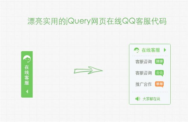 网站在线QQ客服代码